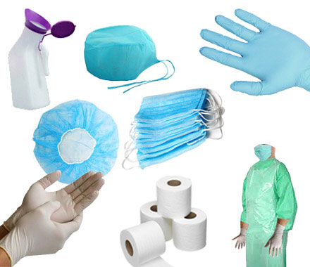 Shubh Surgical Supplier of Health Care Disposable Surgical Caps, Mask, Hand Gloves, Apron Products