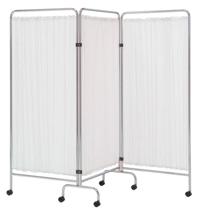 Hospital Ward Bed Side Three Fold Screen