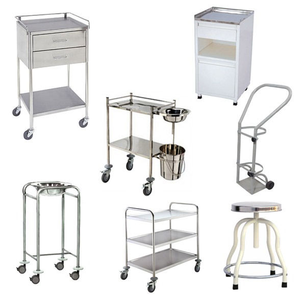 Shubh Surgical Supplier of Hospital Ward Equipment Service Table Trolly Bed Side Locker