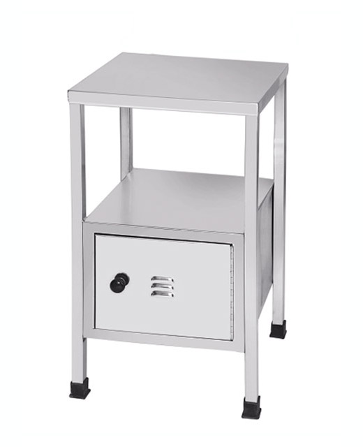 SS Bed Side Locker Table