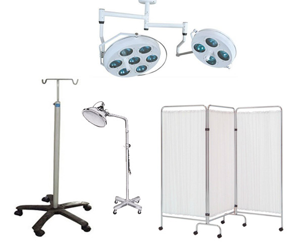 Shubh Surgical Supplier of Hospital Ward Equipment SS I V Stand O T Light Bed Side Screen