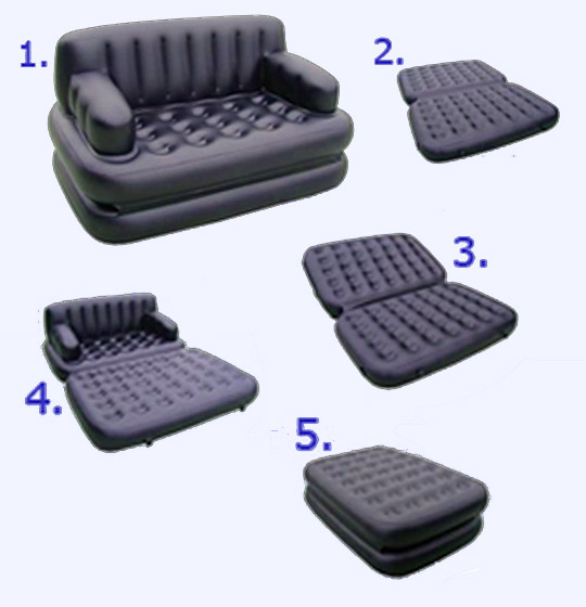 Folding Sofa Set Cume Bed Five in One Set