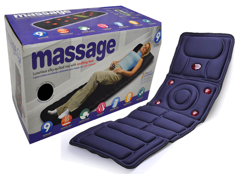 Full Body Massager Heating Vibrating Health Care Monitors Massage Mat Bed