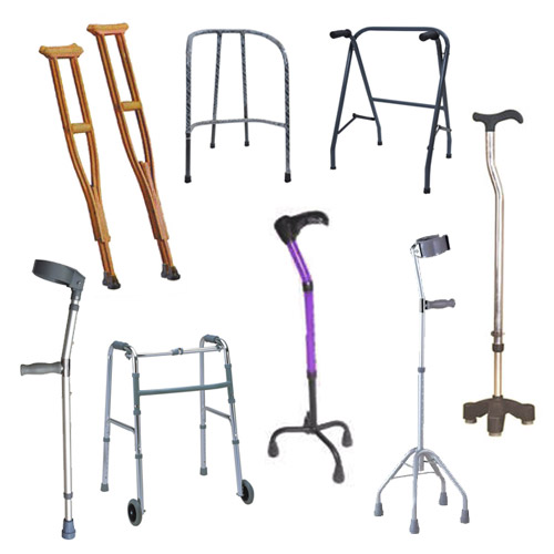 Steel Metal Aluminium Wooden Folding Walking Hand Stick and Stand Walker