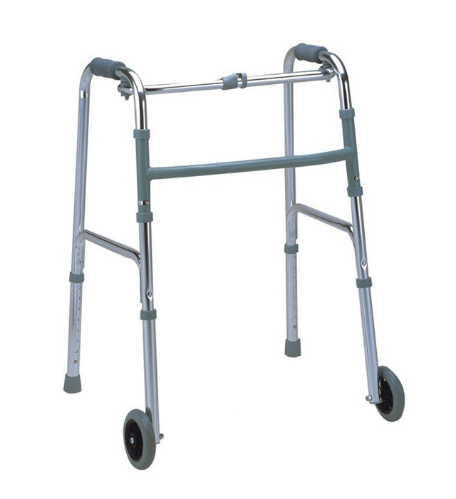 SS Folding Adjustable Hand Wheel Walker
