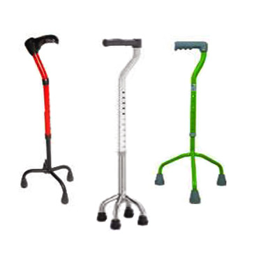 Metal Tripoid Hand Walker Folding  Light-Weight Color Stick
