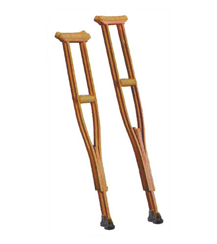 Wooden Underarm Crutches Walker